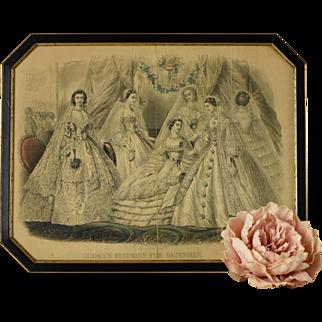 Antique Gravures de Mode, December, 1861