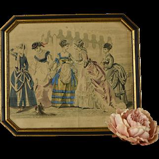 Antique Gravures de Mode, August 1869