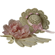 Sweet Little Vintage Crocheted Chapeau for Smaller Bru, Jumeau, Steiner, Gaulltier