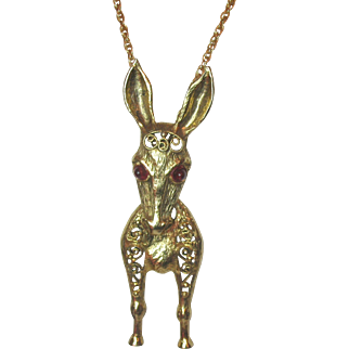D&E Juliana Articulated Donkey Pendant Necklace