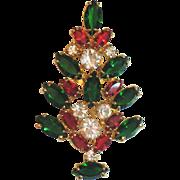 Eisenberg Ice Christmas Tree Pin/Brooch