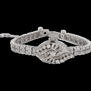 Hamilton 14k White Gold with Diamonds Vintage Ladies Watch