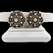 Beautiful Vintage Natural Opal 14k Gold Earrings