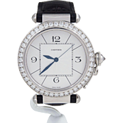 Cartier 18k White Gold Pasha Diamond WJ120251