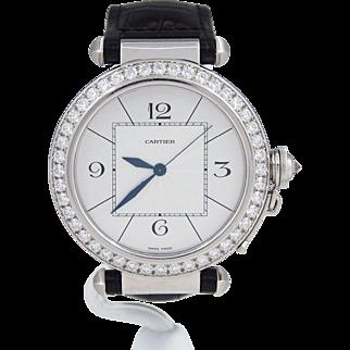 Cartier 18k White Gold Pasha Diamond WJ120251