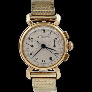 Vintage LeCoultre 14k Gold Chronograph Watch
