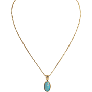 Natural Opal Pendant Necklace 14k Gold