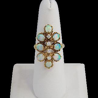 Beautiful Natural Opal Ladies Ring 14k Gold
