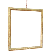 Antique Italian Carved, Lacquered And Golden Frame From 18th Century