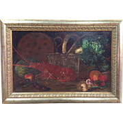 Spanish Painting Still Life Signed And Dated 1883