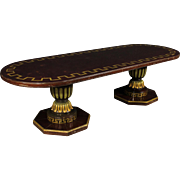 20th Century Spanish Lacquered Table