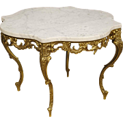 20th Century Dutch Coffee Table With Marble Top
