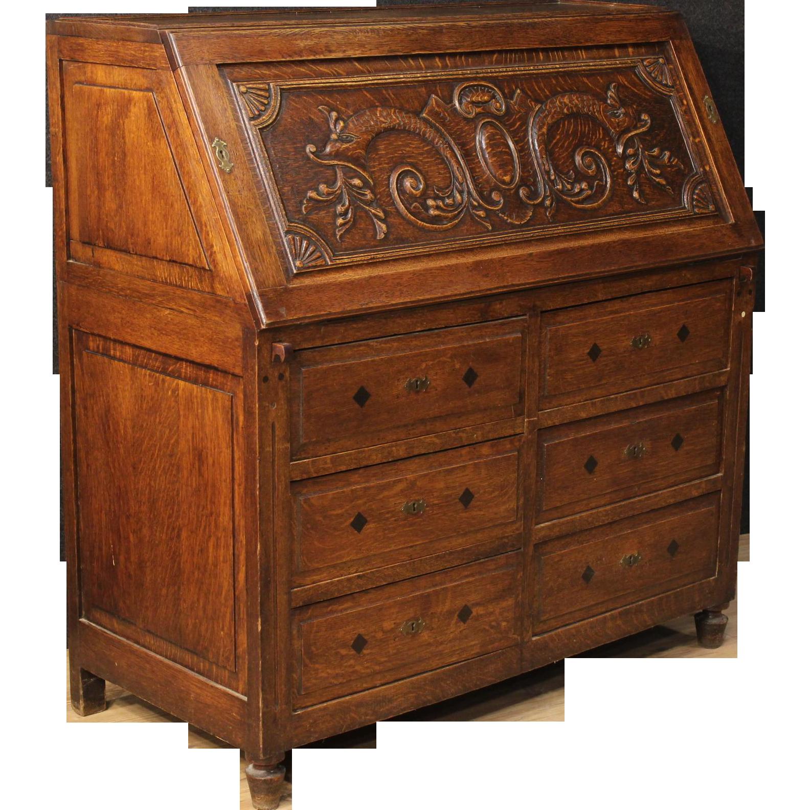 19th century dutch bureau from parino mercato antiquario - Bureau secretaire vintage ...
