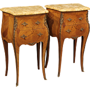 20th Century Pair Of French Bedside Tables
