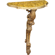 20th Century Italian Lacquered And Gilded Console Table