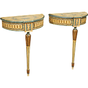 20th Century Pair Of Italian Console Tables