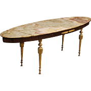 20th Century French Coffee Table With Onyx Top