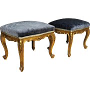 20th Century Pair Of French Footstools