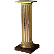 20th Century French Lacquered Column With Mirror