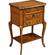 20th Century French Inlaid Nightstand