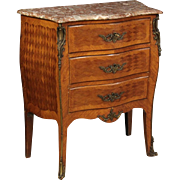 20th Century French Small Dresser With Marble Top