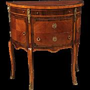 20th Century French Demi Lune Dresser