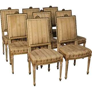 20th Century Group Of Eight Italian Chairs