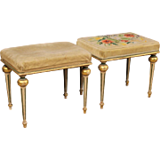 20th Century Pair Of Italian Lacquered Footstools