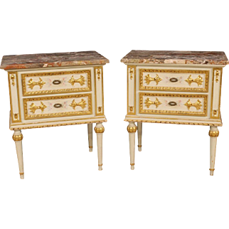 20th century Pair Of Italian Bedside Tables
