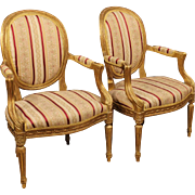 20th Century Pair Of Italian Armchairs