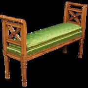 20th Century French Bench