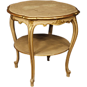 20th Century Italian Living Room Coffee Table In Lacquered And Gilt Wood