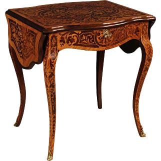 20th Century French Inlaid Writing Desk