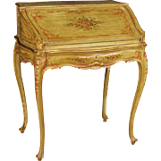 20th Century Venetian Lacquered And Gilt Bureau