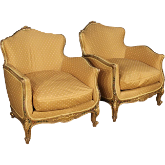 20th Century Pair Of Venetian Lacquered Armchairs
