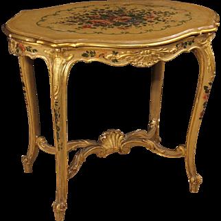 20th Century Venetian Gilded Coffee Table