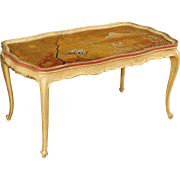 20th Century Venetian Lacquered And Gilt Coffee Table
