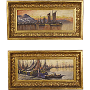 20th Century Pair Of French Signed Paintings