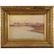 19th Century Scandinavian Seascape Painting Oil On Canvas