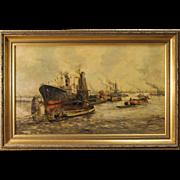 20th Century Dutch Painting Acrylic On Canvas