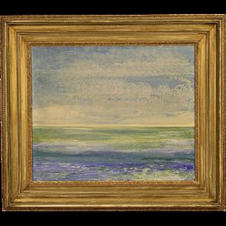 20th Century Impressionist Seascape Painting
