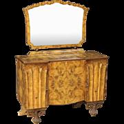 20th Century Italian Dresser With Mirror