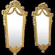 20th Century Pair Of Italian Gilt Mirrors