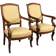 19th Century Pair Of French Armchairs In Mahogany