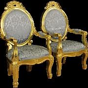 20th Century Pair Of Italian Armchairs