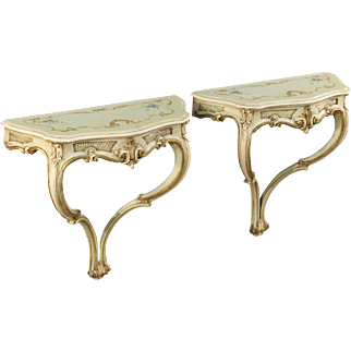 20th Century Pair Of Venetian Console Tables