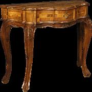 20th Century Venetian Console Table In Walnut