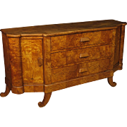 20th Century French Art Deco Sideboard In Wood 3 Drawers And 2 Doors