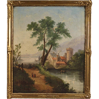 19th Century French Painting Oil On Canvas
