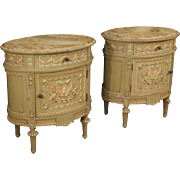 20th Century Pair Of Italian Side Tables In Louis XVI Style